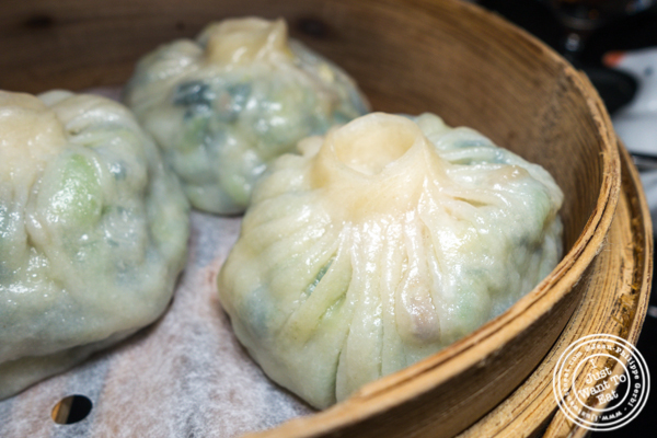 Vegetable buns at DaDong in NYC, NY