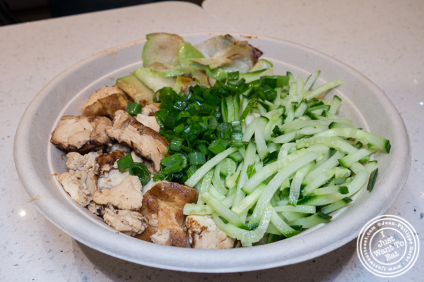 Furu tofu noodles at Junzi Kitchen in NYC, NY