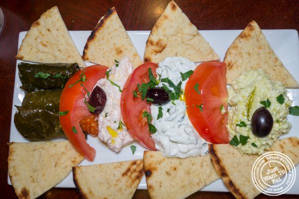 Spreads at Dafni Greek Taverna in NYC, NY