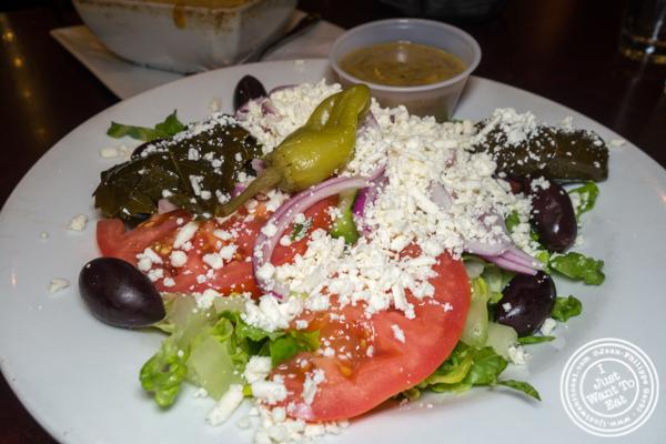 Greek salad at Dafni Greek Taverna in NYC, NY