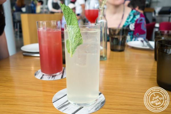 Mint and lemon soda at Untitled in NYC, NY