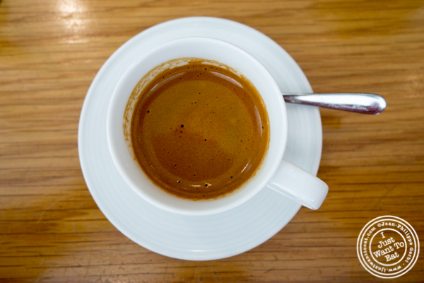 Double espresso at Untitled in NYC, NY