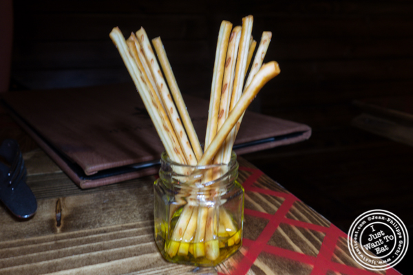 Cheese sticks at Woodpecker by David Burke in NYC, NY