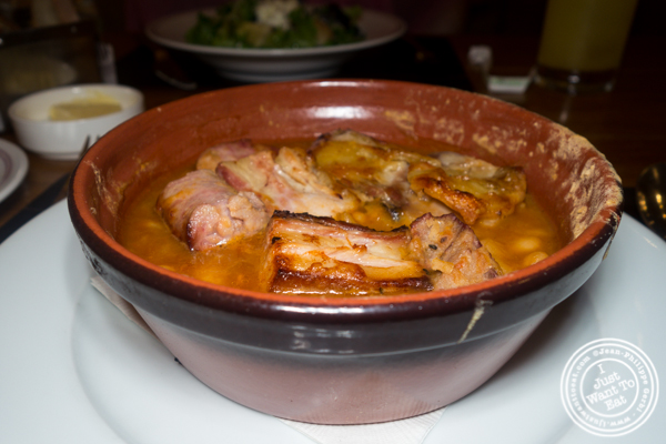 Signature cassoulet at Bar Boulud in NYC, NY