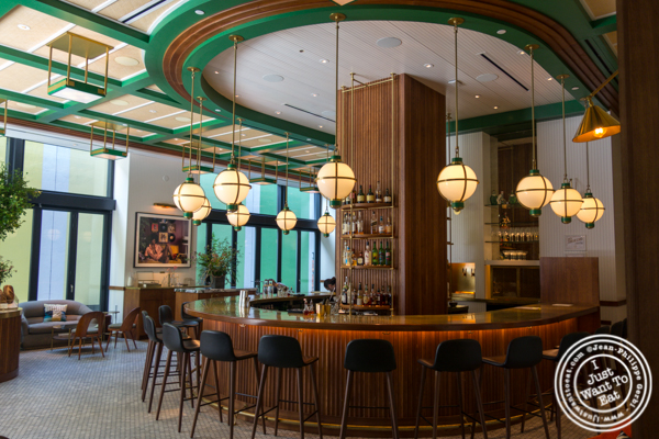 Bar at Legacy Records in Hudson Yards