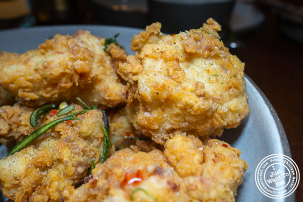 Tuscan fried chicken at Legacy Records in Hudson Yards