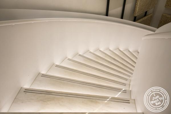 Stairs at Estiatorio Milos in Hudson Yard