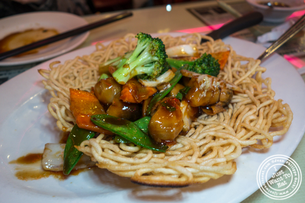 Vegetables pan fried noodles at Joe's Ginger in Chinatown