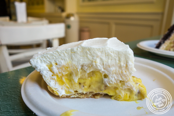 Banana cream pie at Billy's Bakery in TriBeCa