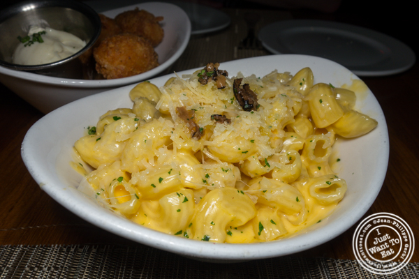 Truffle Mac and cheese at Ocean Prime in NYC, NY