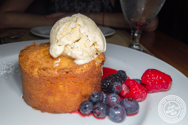 Warm butter cake at Ocean Prime in NYC, NY