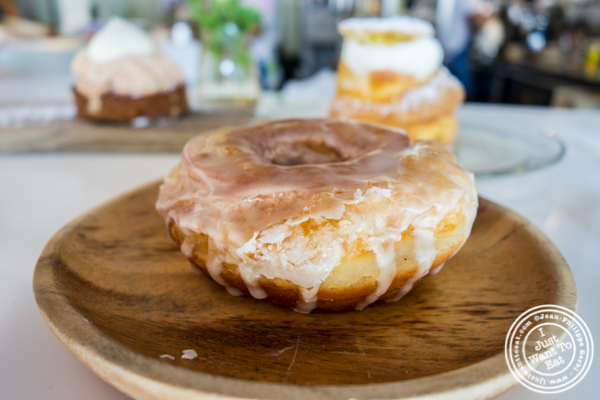 Yuzu glazed donut at Patisserie Tomoko in Williamsburg, Brooklyn