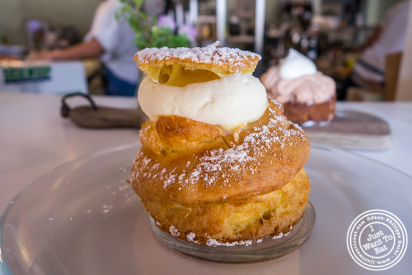 Cream puff at Patisserie Tomoko in Williamsburg, Brooklyn