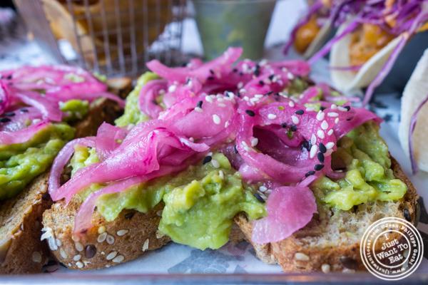 Avocado toast at Shaka Bowl in Hoboken, NJ