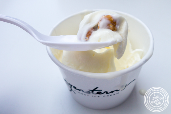 Mascarpone with salted hazelnuts at Morgenstern's Finest Ice Cream in NYC, NY