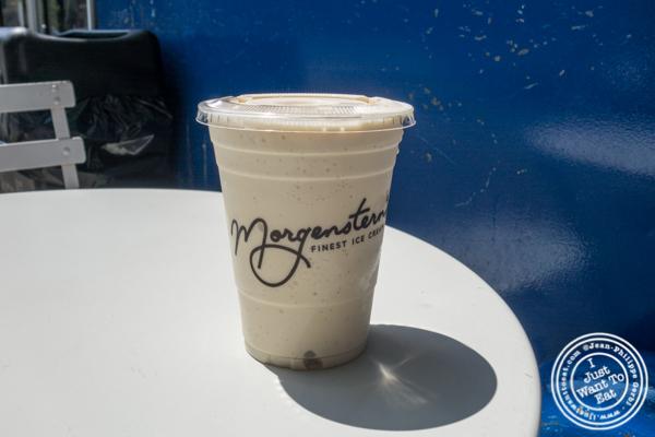 Burnt honey Vanilla milkshake at Morgenstern's Finest Ice Cream in NYC, NY