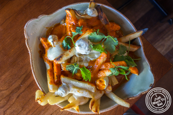Butter chicken poutine at Soul Curry in Hoboken, NJ