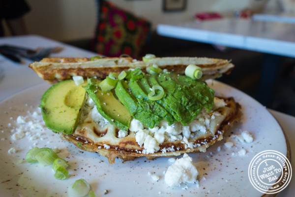 The Millenial dosa waffle at Simply Chai in Hoboken, NJ