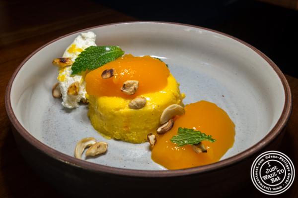 Mango custard at Soul Curry in Hoboken, NJ