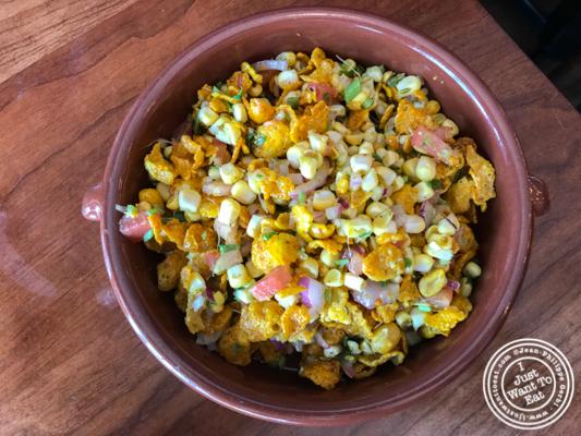 Corn behl at Soul Curry in Hoboken, NJ