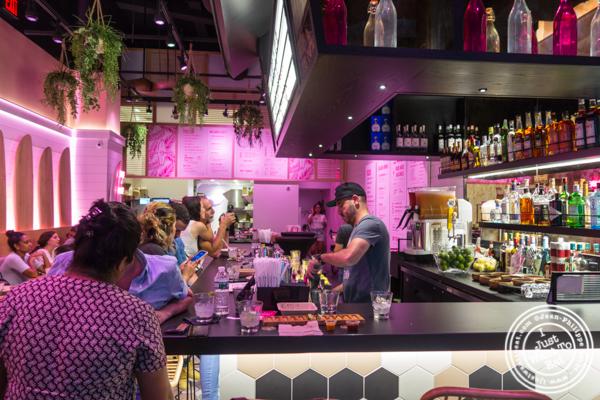 bar at Taco Dumbo in NYC, NY
