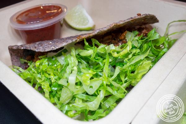 Impossible taco at Taco Dumbo in NYC, NY