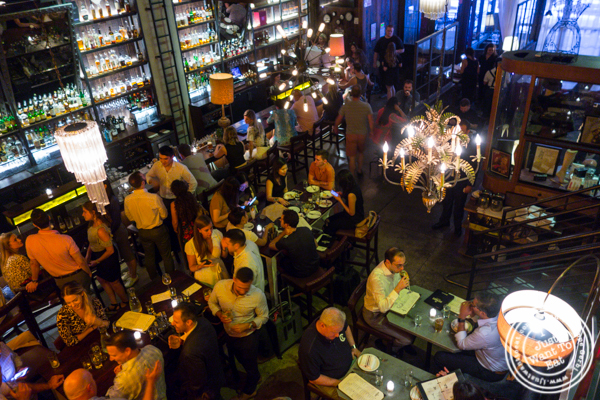 Bar area at The Rag Trader in NYC, NY