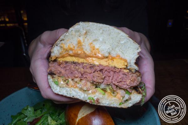 Vegan burger at The Rag Trader in NYC, NY