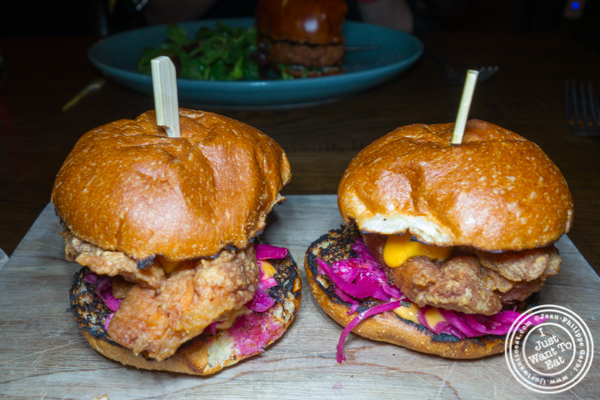 Fried chicken sliders at The Rag Trader in NYC, NY