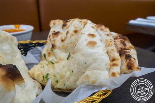 Cheese naan at Garam Masala in Ridgewood, Queens