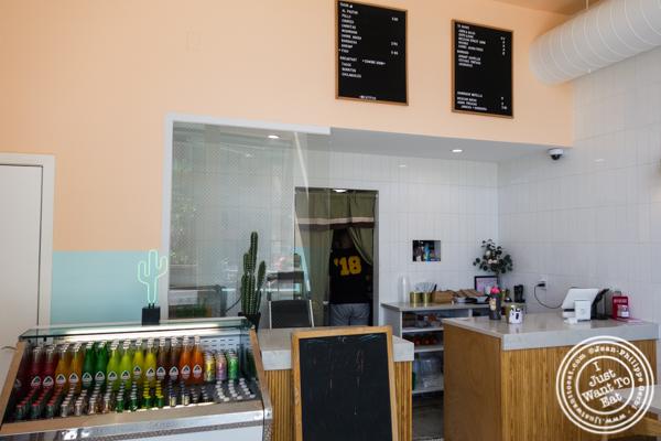 Counter at Pico Taco in Hoboken, NJ