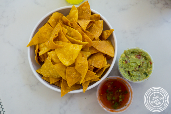 Guacamole and chips at Pico Taco in Hoboken, NJ