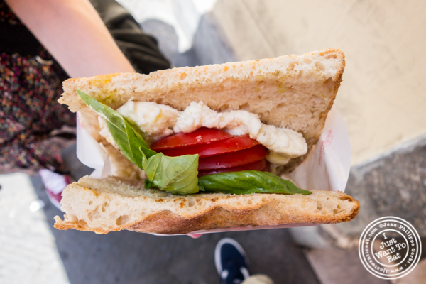 Vegetarian sandwich at All'Antico Vinaio in Florence, Italy