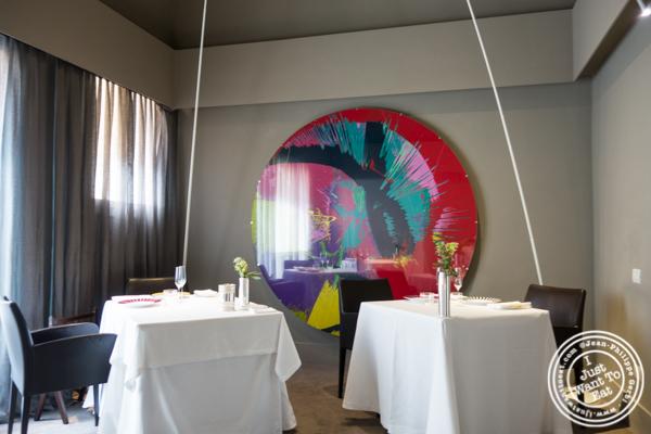Dining room at Osteria Francescana in Modena, Italy