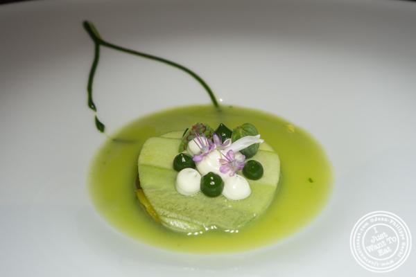 Vegetarian version of Autumn in NY at Osteria Francescana in Modena, Italy