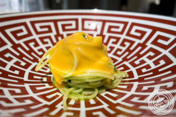 spaghettini from the gulf of Naples to Hokkaido at Osteria Francescana in Modena, Italy