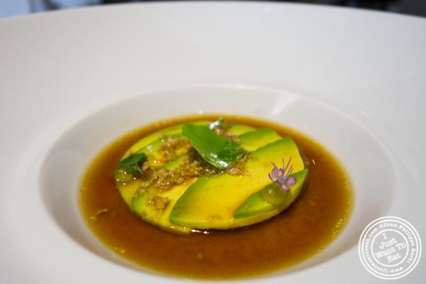 Marinated avocado at Osteria Francescana in Modena, Italy