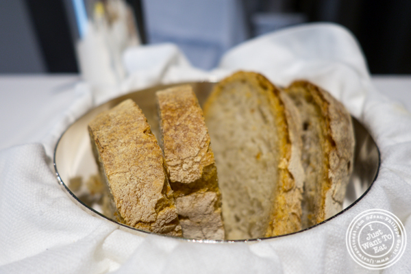 Sourdough and potato bread at Osteria Francescana in Modena, Italy