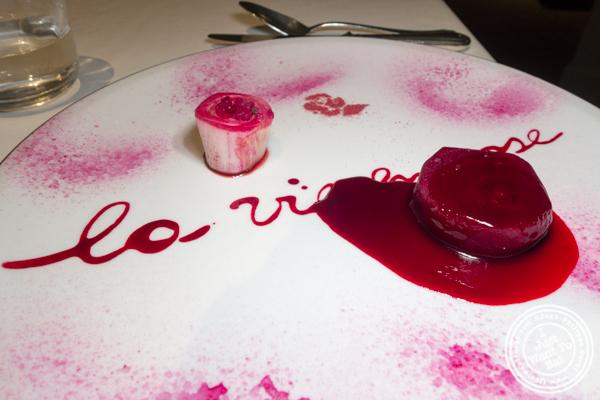 Vegetarian La vie en rose at Osteria Francescana in Modena, Italy