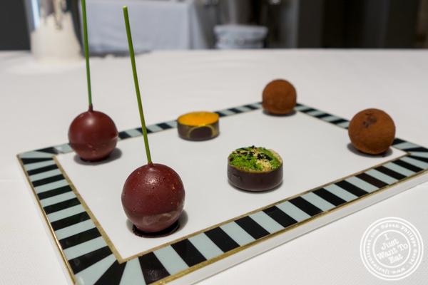 Chocolates at Osteria Francescana in Modena, Italy