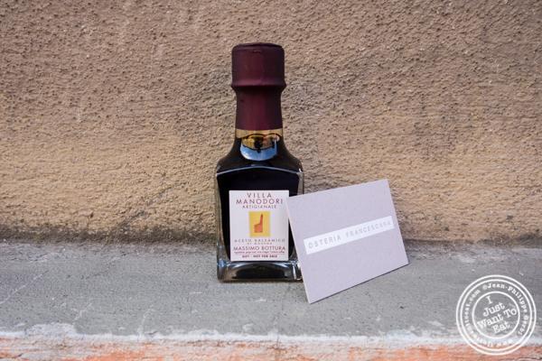 Balsamic vinegar from Osteria Francescana in Modena, Italy