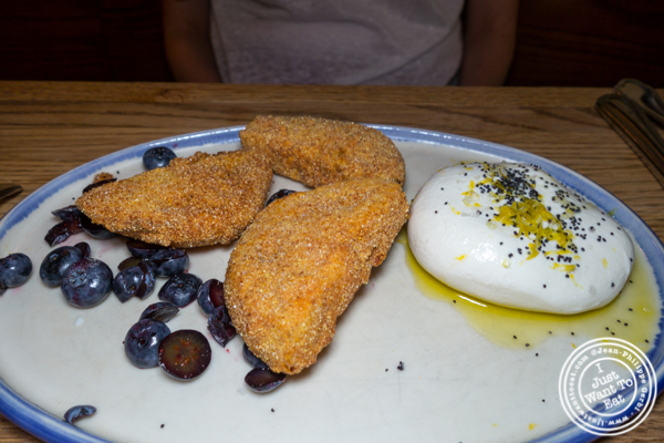 Fried green tomatoes and burrata at The Dutch