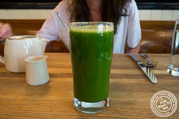 Green clean juice at The Dutch in Soho