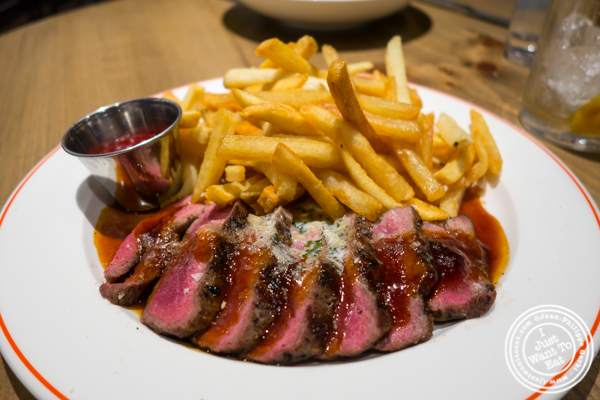 Steak frites at Belcampo in Hudson Yards