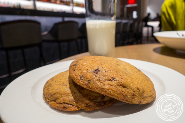 Cookies and milk at Belcampo in Hudson Yards