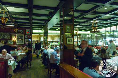 Dining room at Gallaghers Steakhouse in NYC, NY