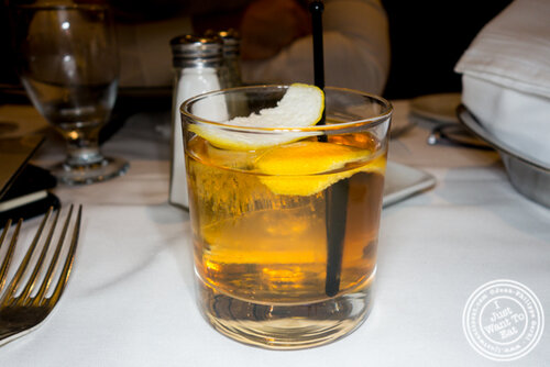 Old fashioned at Gallaghers Steakhouse in NYC, NY