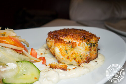 Crab cake at Gallaghers Steakhouse in NYC, NY