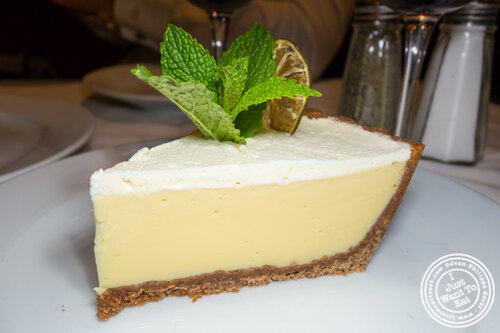 Key lime pie at Gallaghers Steakhouse in NYC, NY