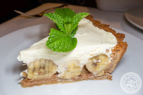 Banana cream pie at Gallaghers Steakhouse in NYC, NY